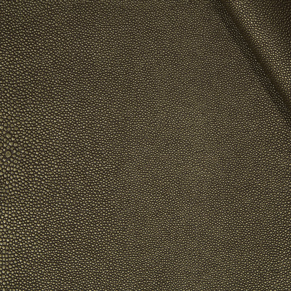FAUX LEATHER II Stone Luxe Fabric - Bronze