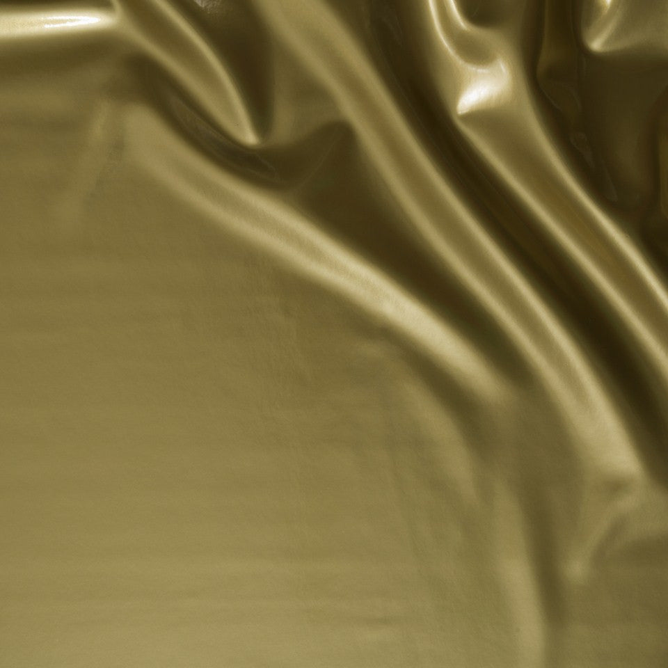 FAUX LEATHER II Patented Fabric - Fluid Gold