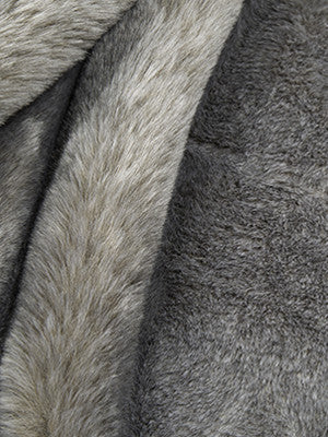 EXCLUSIVE FURS Chinchilla Fur Fabric - Ash