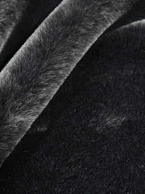 EXCLUSIVE FURS Chinchilla Fur Fabric - Coal