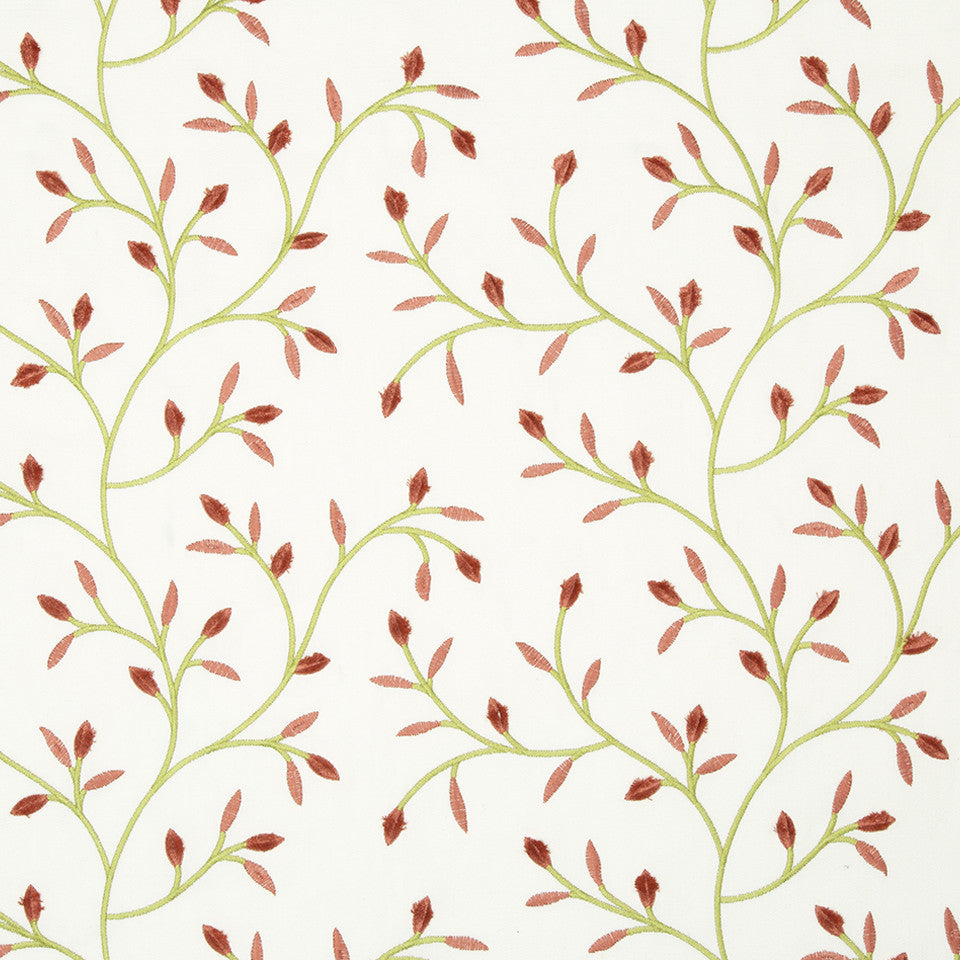 COLOR LIBRARY MULTI-PURPOSE: CHOCOLATE-LEMONGRASS-PEONY Basic Spring Fabric - Coral Reef