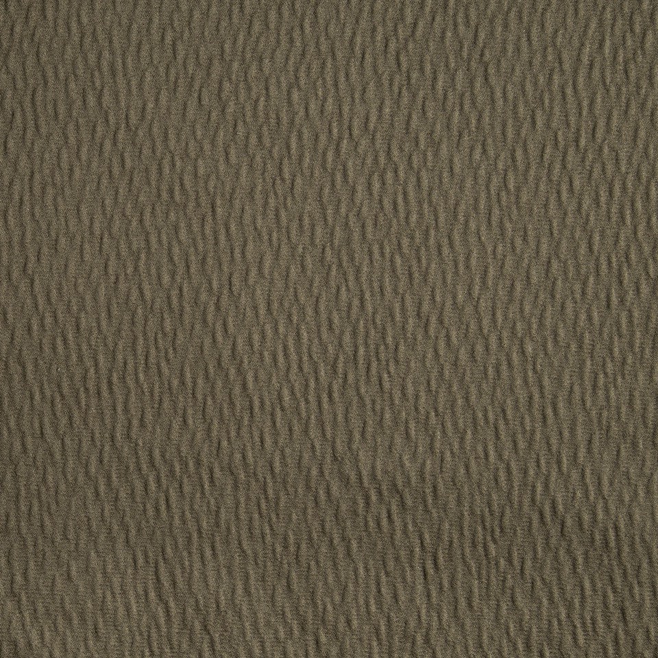 DRAPEABLE ELEGANT TEXTURES Ripple Solid Fabric - Coffee