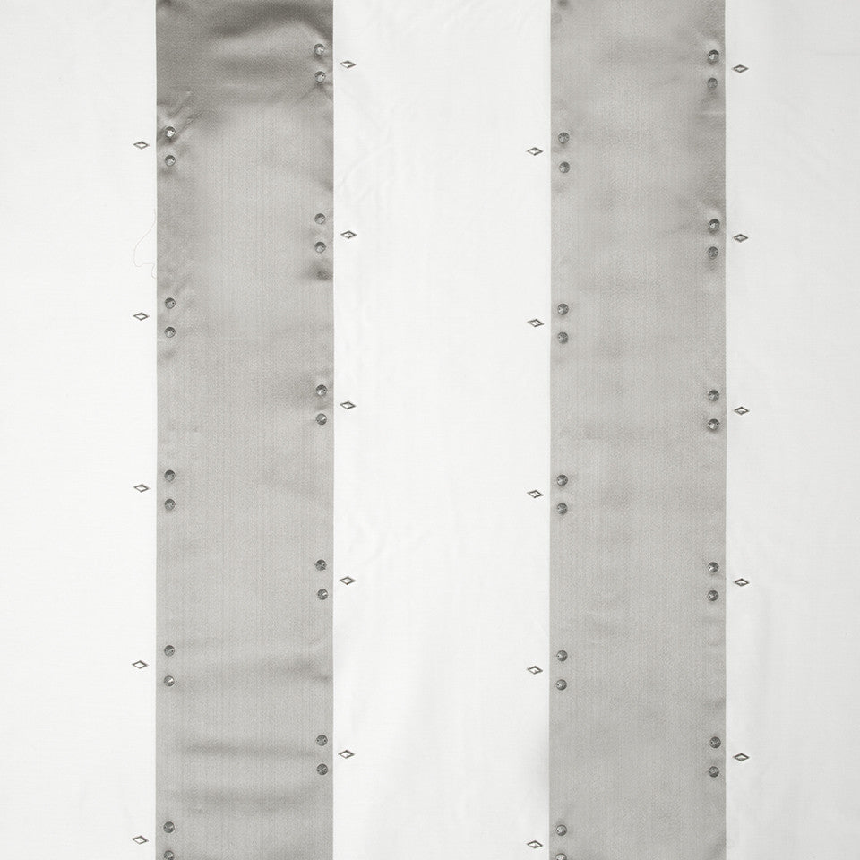 SILK STRIPES & PLAIDS Mayara Stripe Fabric - Silver