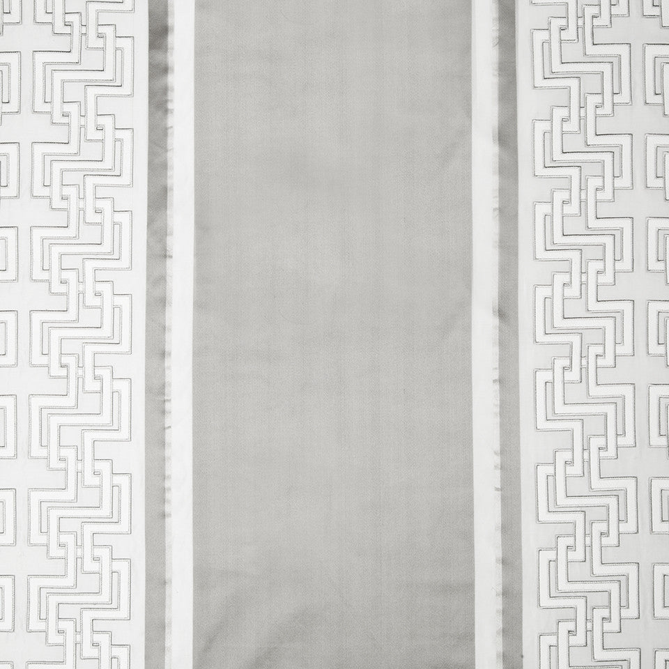 SILK STRIPES & PLAIDS Leandro Stripe Fabric - Silver