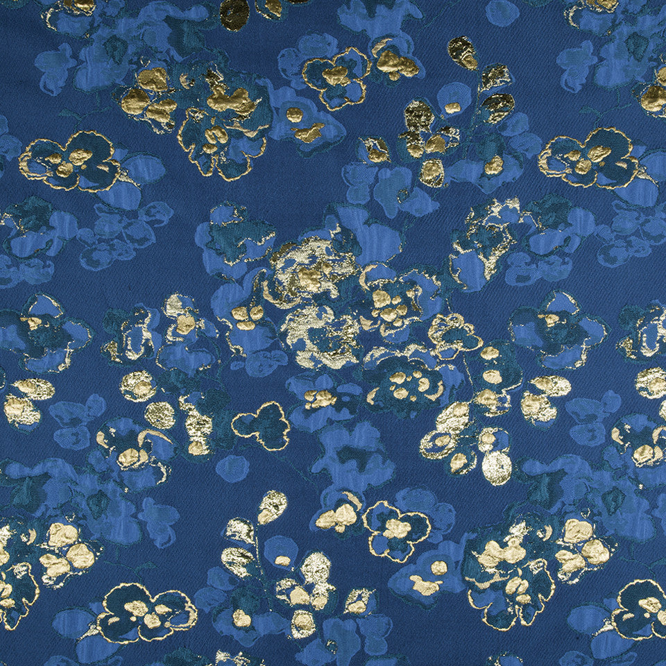 SILK BEST SELLERS 15 Samurai Bloom Fabric - Island Blue