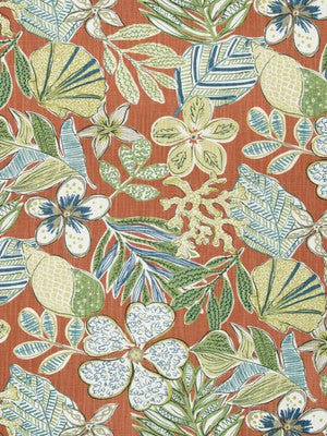 Mixed Motifs Fabric - Coral