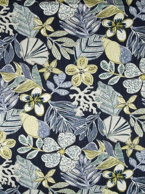 Mixed Motifs Fabric - Indigo