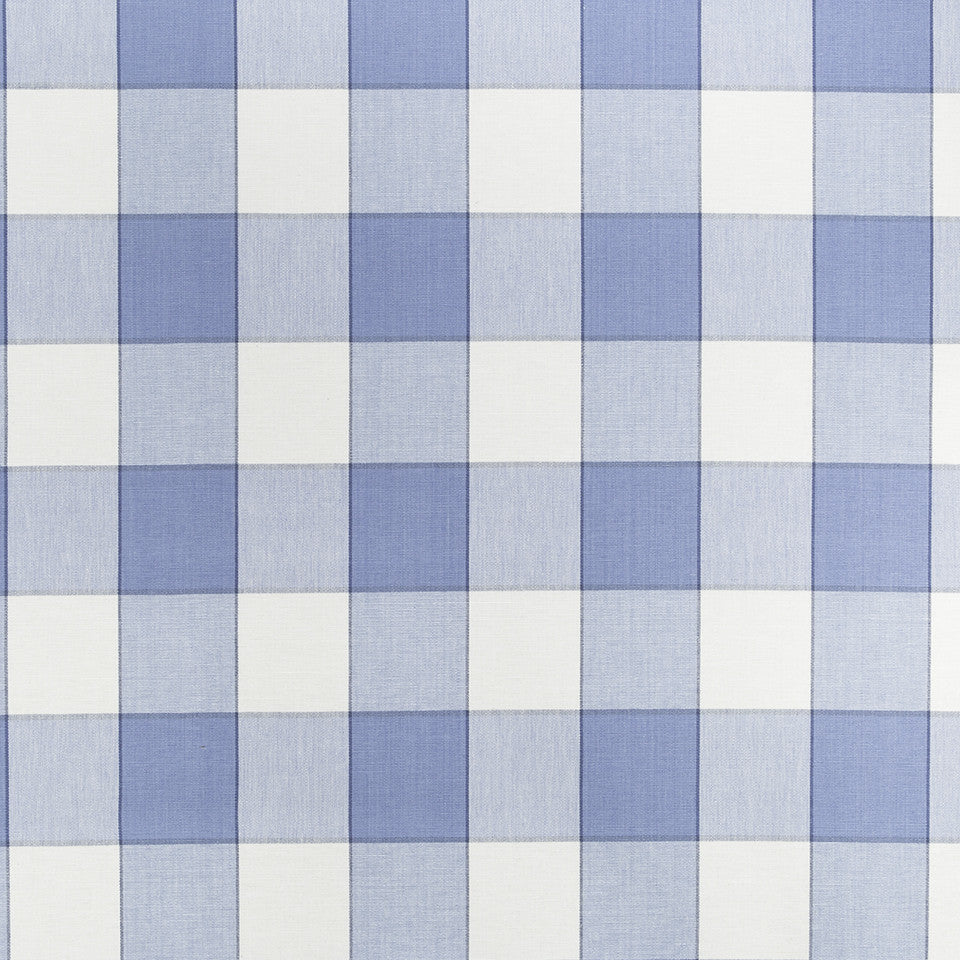 COLOR LIBRARY MULTI-PURPOSE: WATER-COBALT-SPRING GRASS Kal Plaid Fabric - Delft