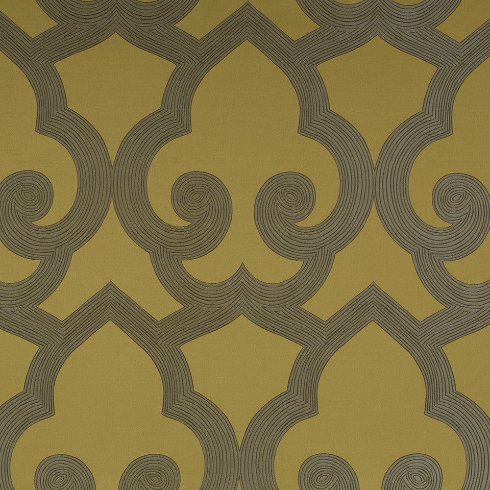 Eclectic Multi-Use Fabrics II Tucked Frame Fabric - Goldenrod