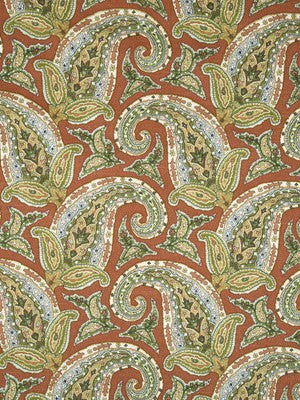 New Paisley Fabric - Coral