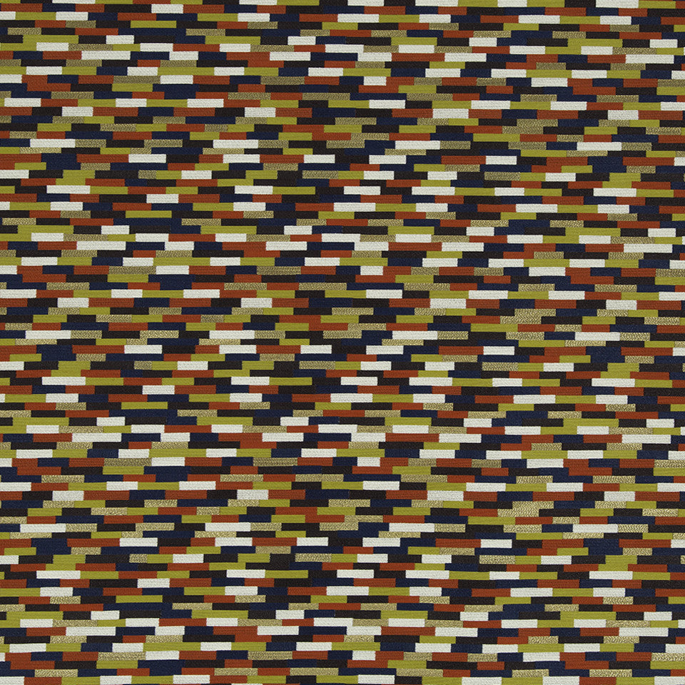 KIRK NIX THE PENTHOUSE Moroccan Tile Fabric - Ember