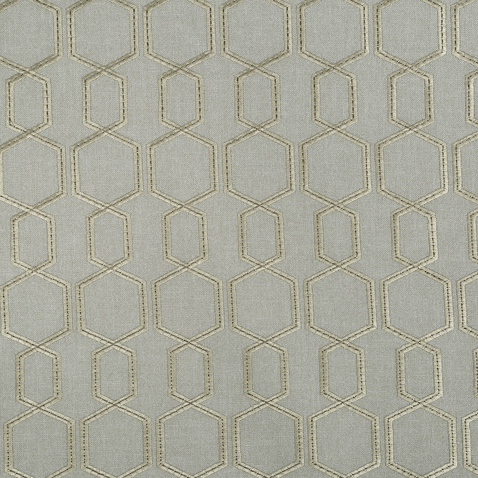 COLOR LIBRARY MULTI-PURPOSE: GLACIER-PEWTER-DRIFTWOOD Hex Connect Fabric - Pewter