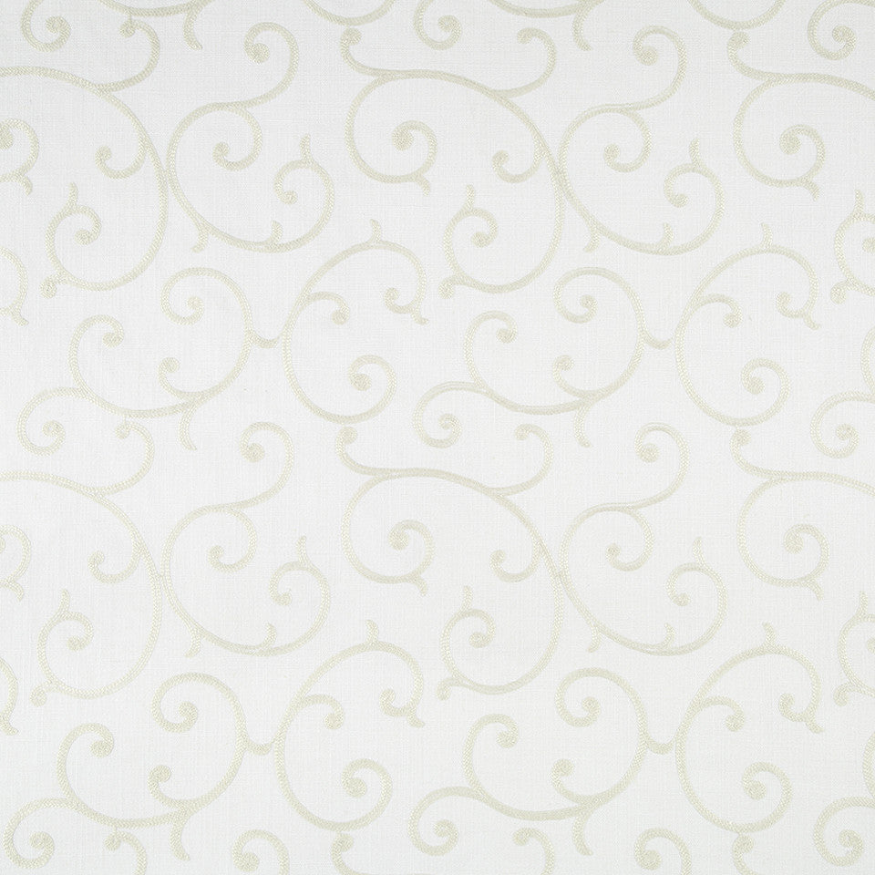 COLOR LIBRARY MULTI-PURPOSE: GLACIER-PEWTER-DRIFTWOOD Quaint Scroll Fabric - Glacier