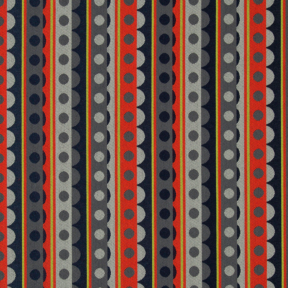 KIRK NIX THE PENTHOUSE Zou Zou Fabric - Ember