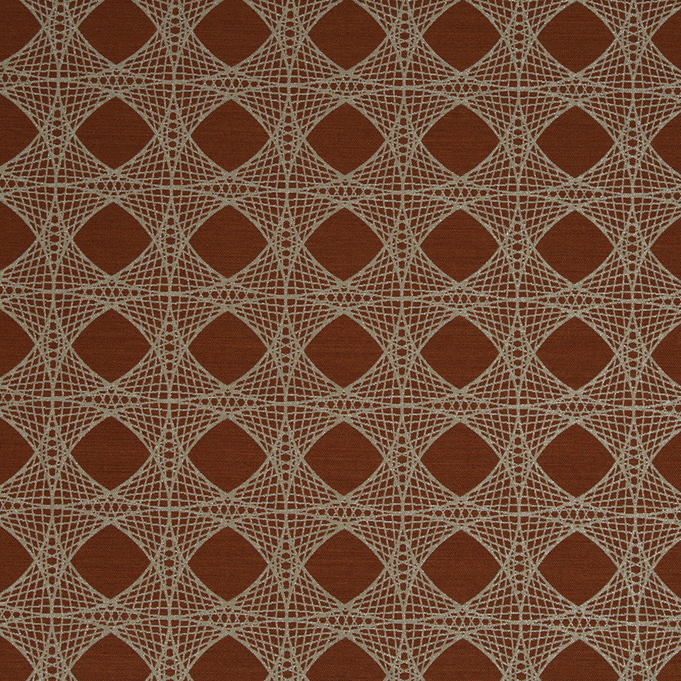 KIRK NIX THE PENTHOUSE Mystery Net Fabric - Ember