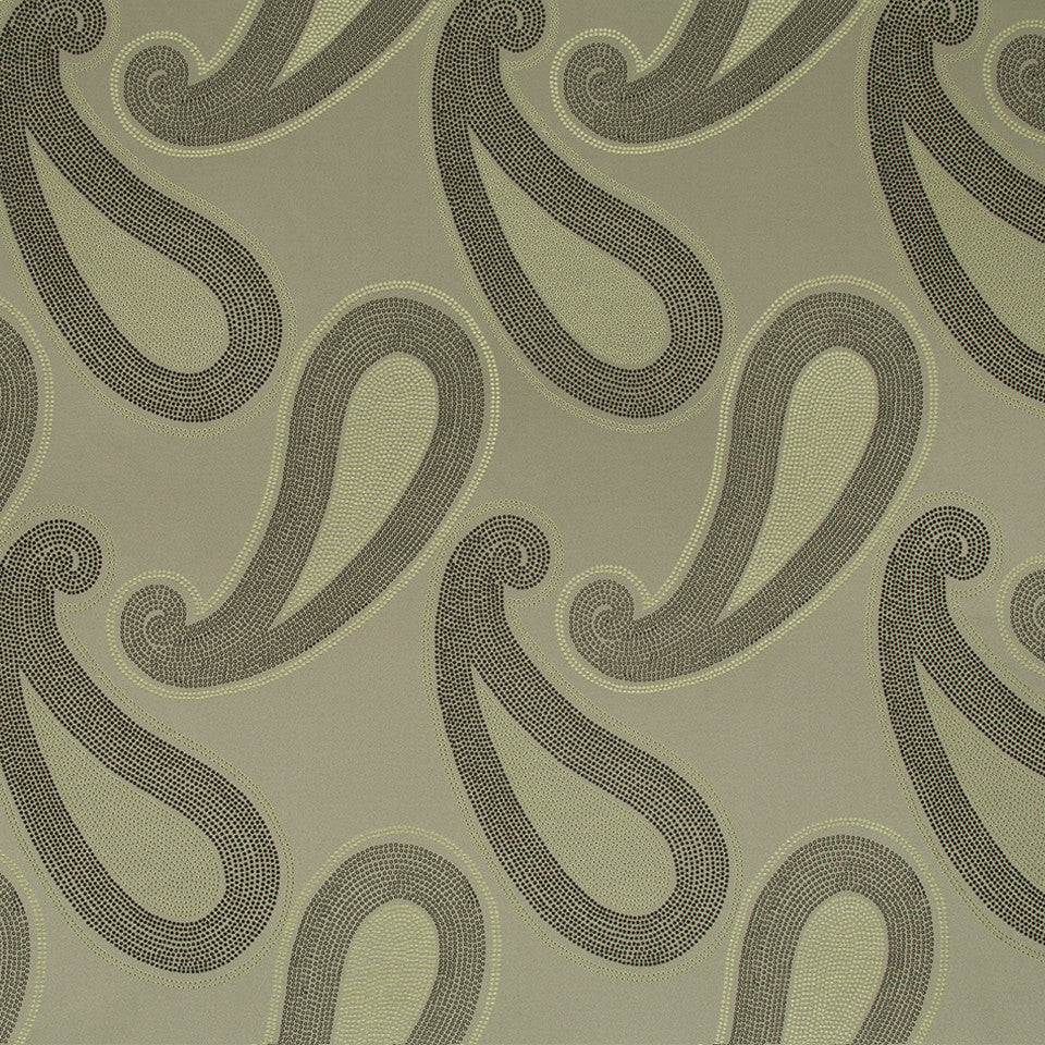 KIRK NIX THE PENTHOUSE Ivory Coast Fabric - Smoke