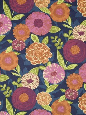 Luna Flora Fabric - Berry Crush