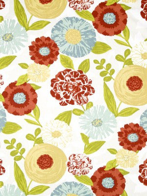 Luna Flora Fabric - Poppy