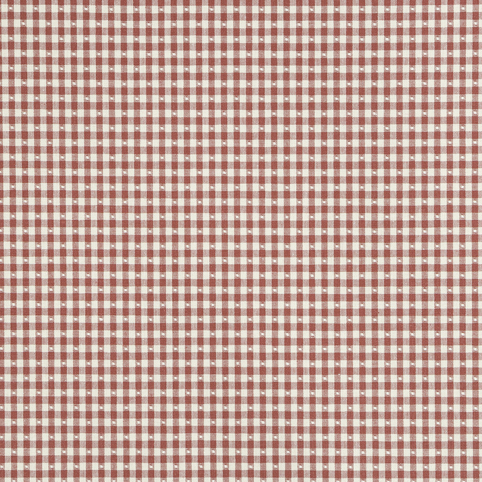 COLOR LIBRARY MULTI-PURPOSE: CHOCOLATE-LEMONGRASS-PEONY Betsy Gingham Fabric - Red Hot