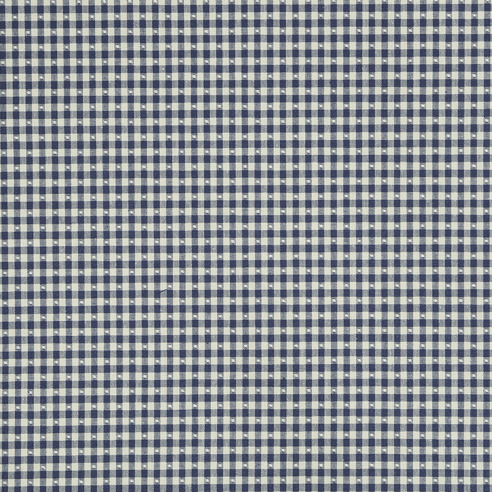 COLOR LIBRARY MULTI-PURPOSE: WATER-COBALT-SPRING GRASS Betsy Gingham Fabric - Indigo