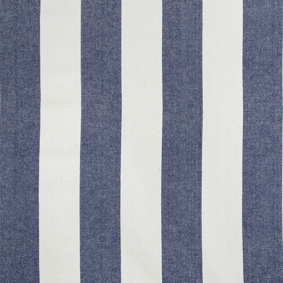 COLOR LIBRARY MULTI-PURPOSE: WATER-COBALT-SPRING GRASS Cantina Stripe Fabric - Indigo