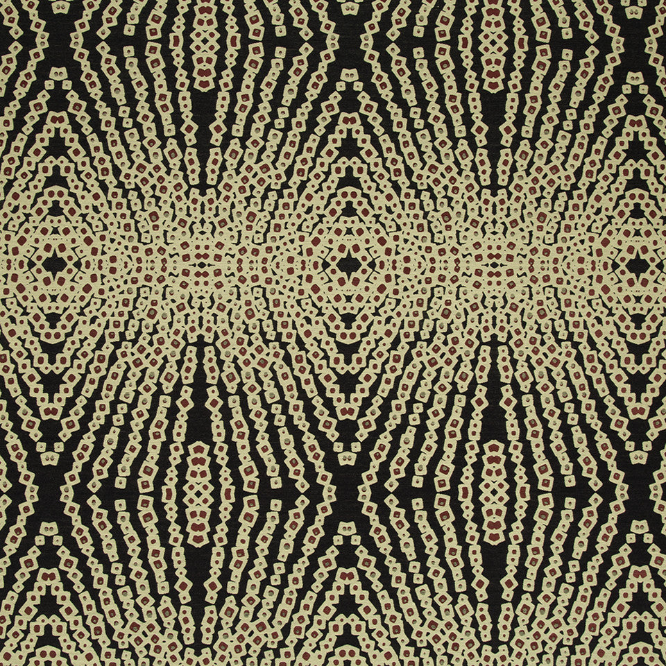 KIRK NIX THE PENTHOUSE Jazz Age Fabric - Caviar
