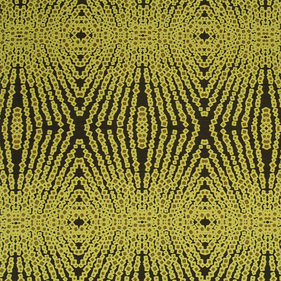 KIRK NIX THE PENTHOUSE Jazz Age Fabric - Lemon Drop