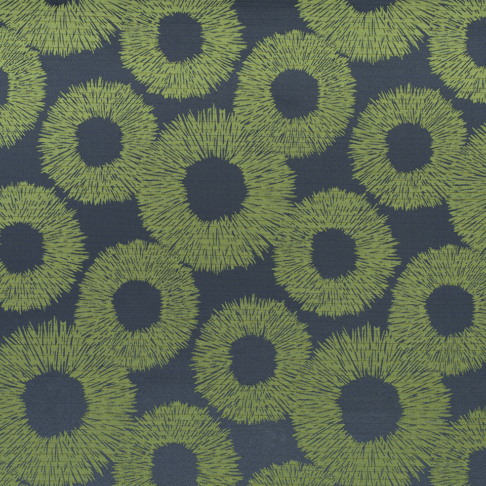 KIRK NIX THE PENTHOUSE Lecreole Fabric - Neva Green