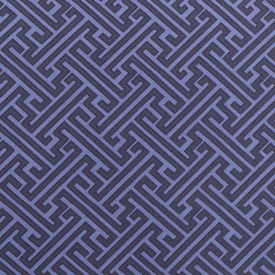 COLOR LIBRARY MULTI-PURPOSE: WATER-COBALT-SPRING GRASS Mini Network Fabric - Indigo