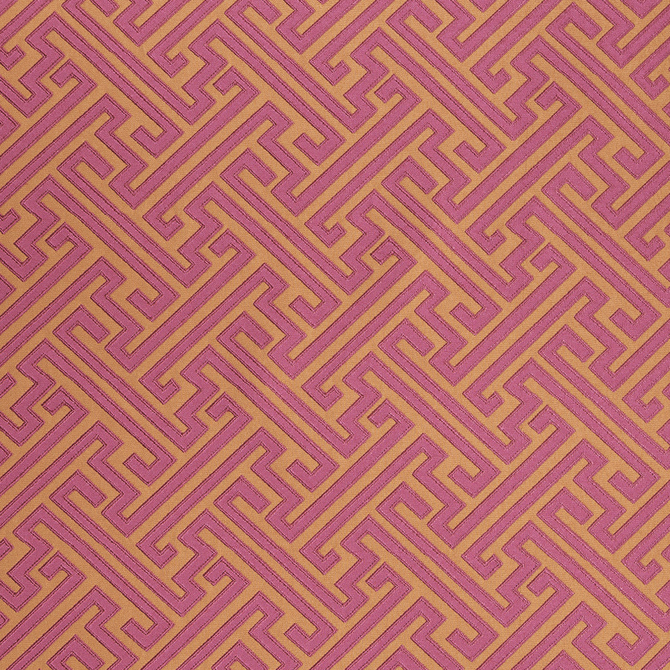 COLOR LIBRARY MULTI-PURPOSE: CHOCOLATE-LEMONGRASS-PEONY Mini Network Fabric - Fuchsia