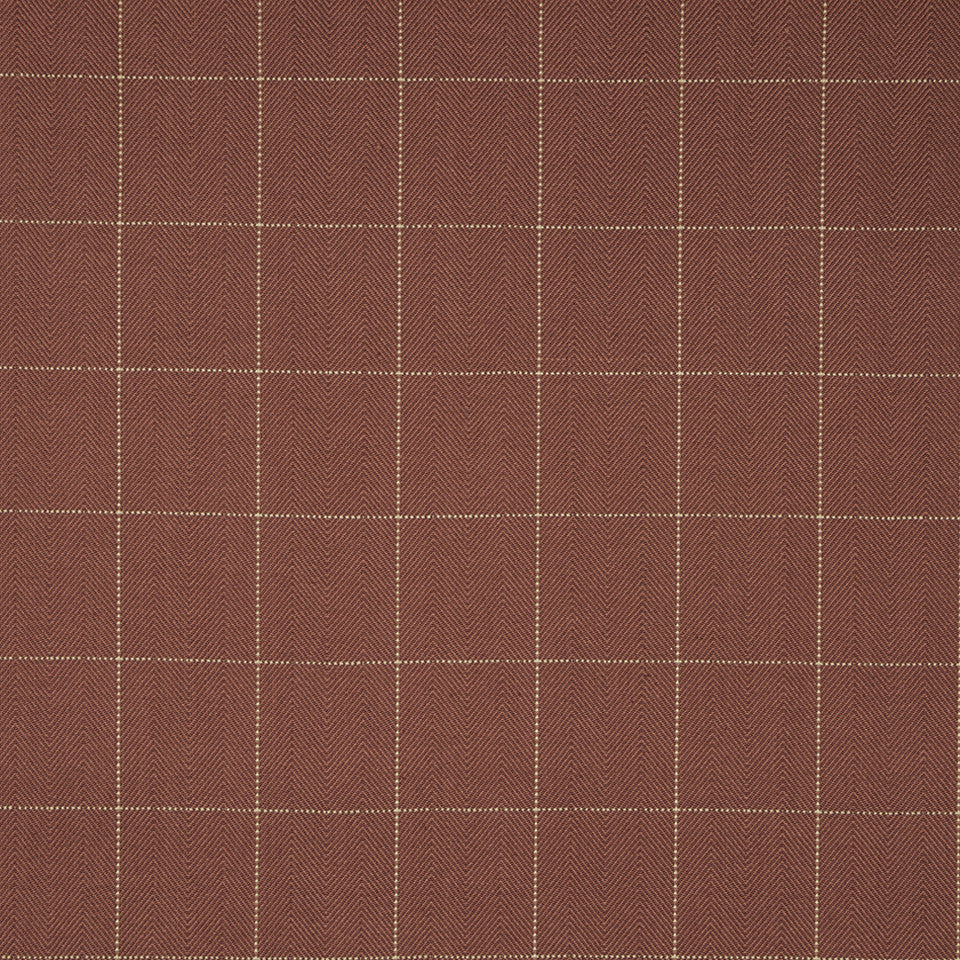 COLOR LIBRARY MULTI-PURPOSE: CHOCOLATE-LEMONGRASS-PEONY Boxy Zig Fabric - Lacquer Red