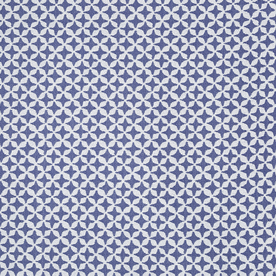 COLOR LIBRARY MULTI-PURPOSE: WATER-COBALT-SPRING GRASS Clover Spin Fabric - Indigo