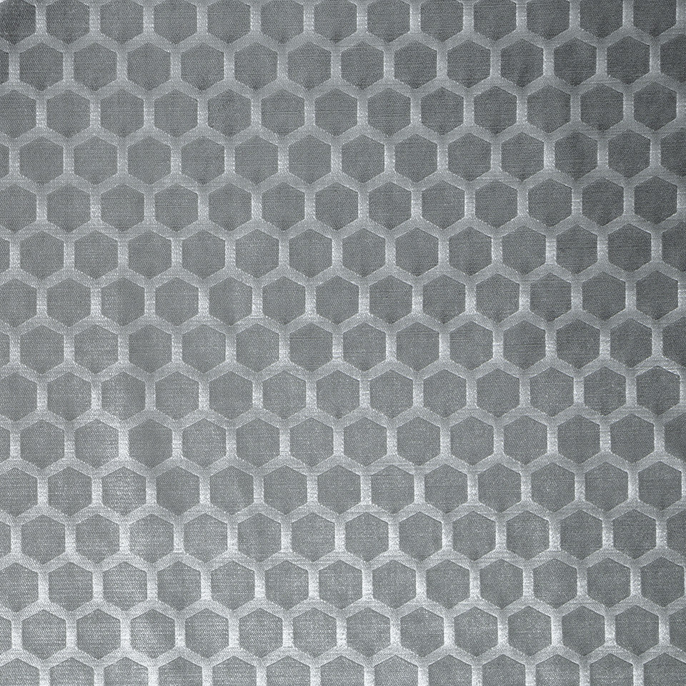COLOR LIBRARY MULTI-PURPOSE: GLACIER-PEWTER-DRIFTWOOD Soft Hex Fabric - Pewter