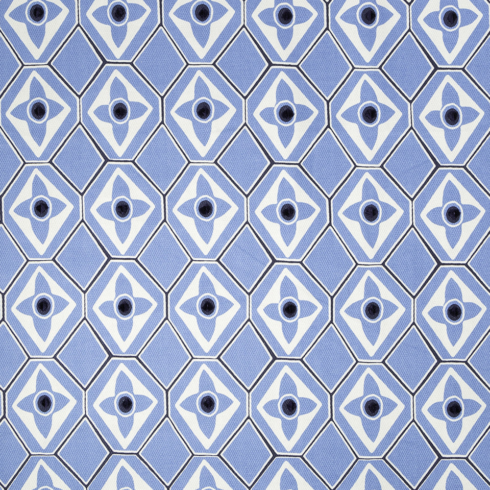 COLOR LIBRARY MULTI-PURPOSE: WATER-COBALT-SPRING GRASS Bodywork Fabric - Delft