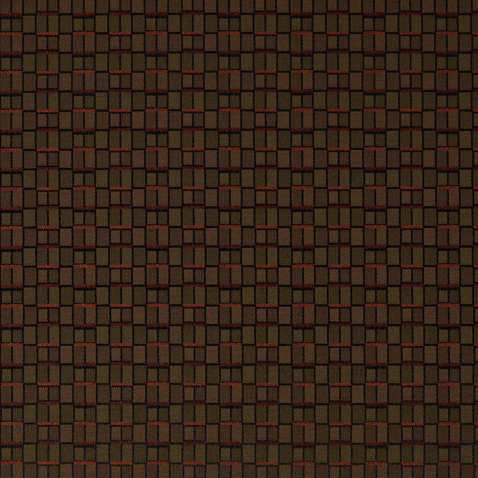 CRYPTON MODERN UPH II Brick Box Fabric - Chili Pepper