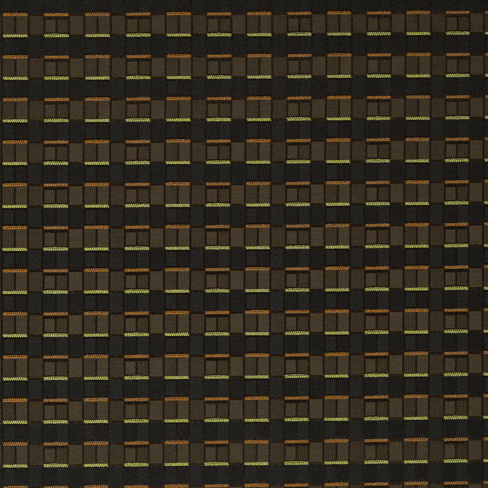 CRYPTON MODERN UPH II Brick Box Fabric - Cocoa