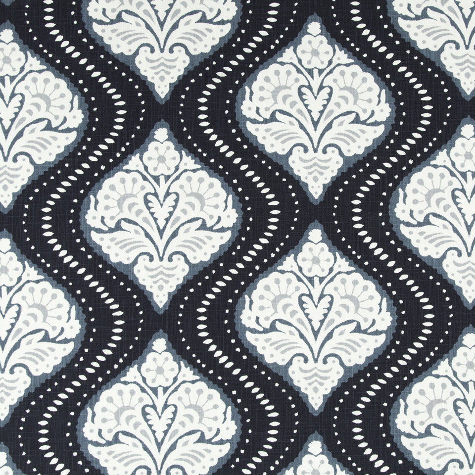 DWELLSTUDIO MODERN CARAVAN Kavali Ogee Fabric - Midnight