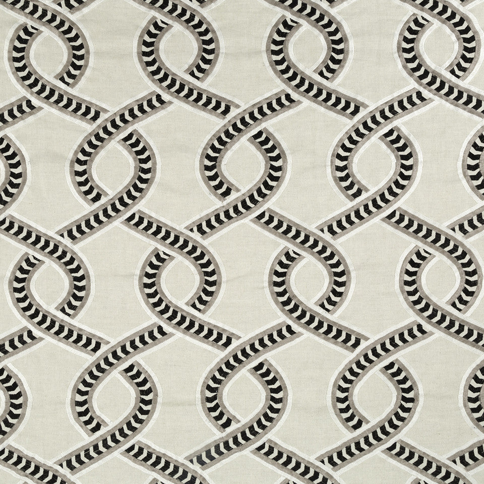 DWELLSTUDIO MODERN CARAVAN Trellis Twist Fabric - Ink