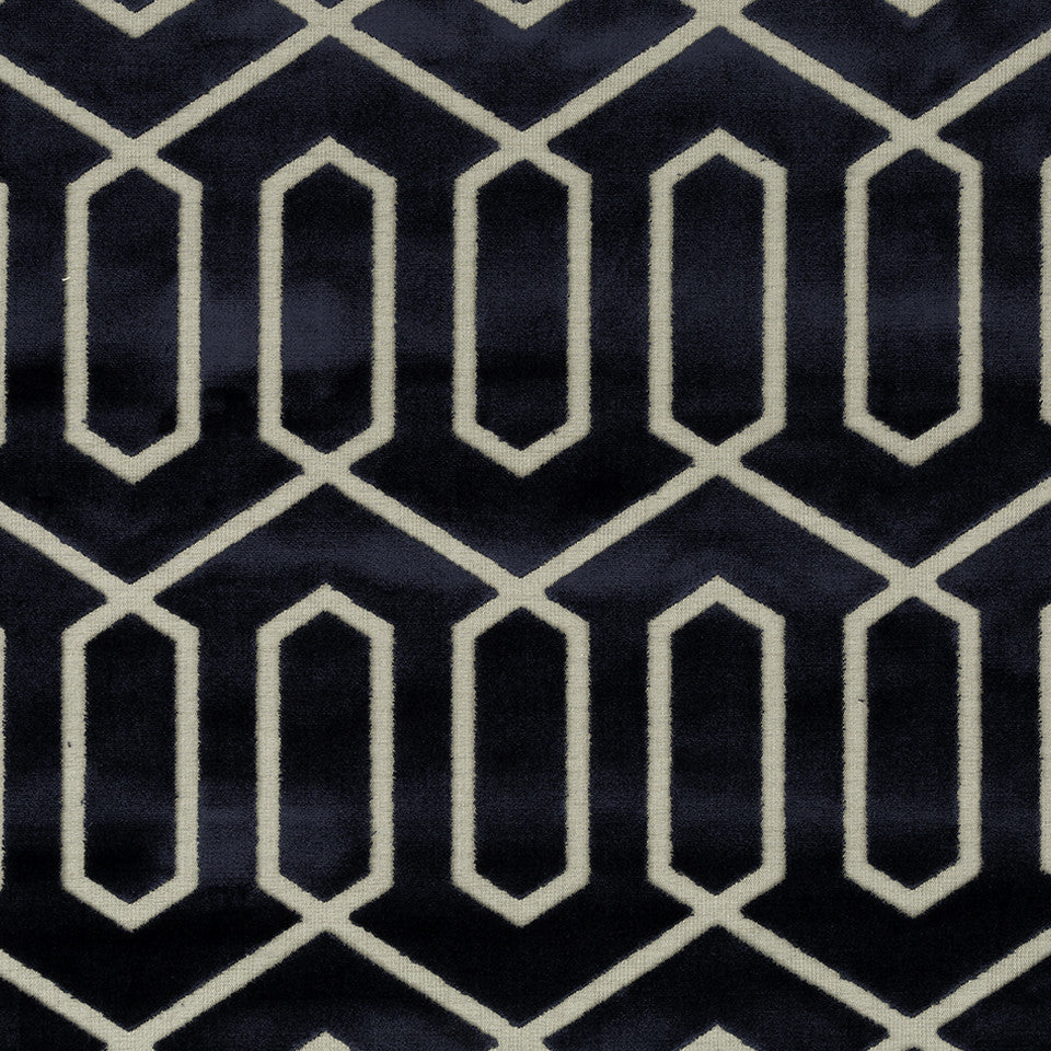 DWELLSTUDIO MODERN CARAVAN Bengal Lattice Fabric - Midnight