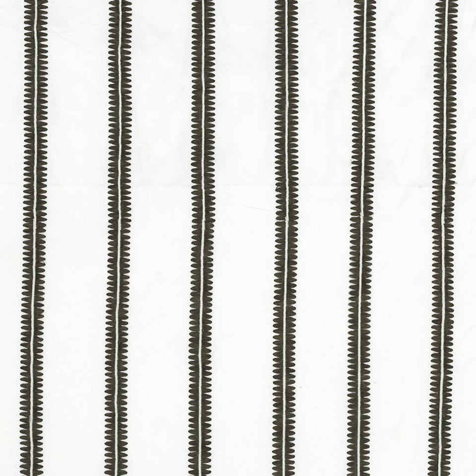 DWELLSTUDIO MODERN CARAVAN Berber Stripe Fabric - Charcoal