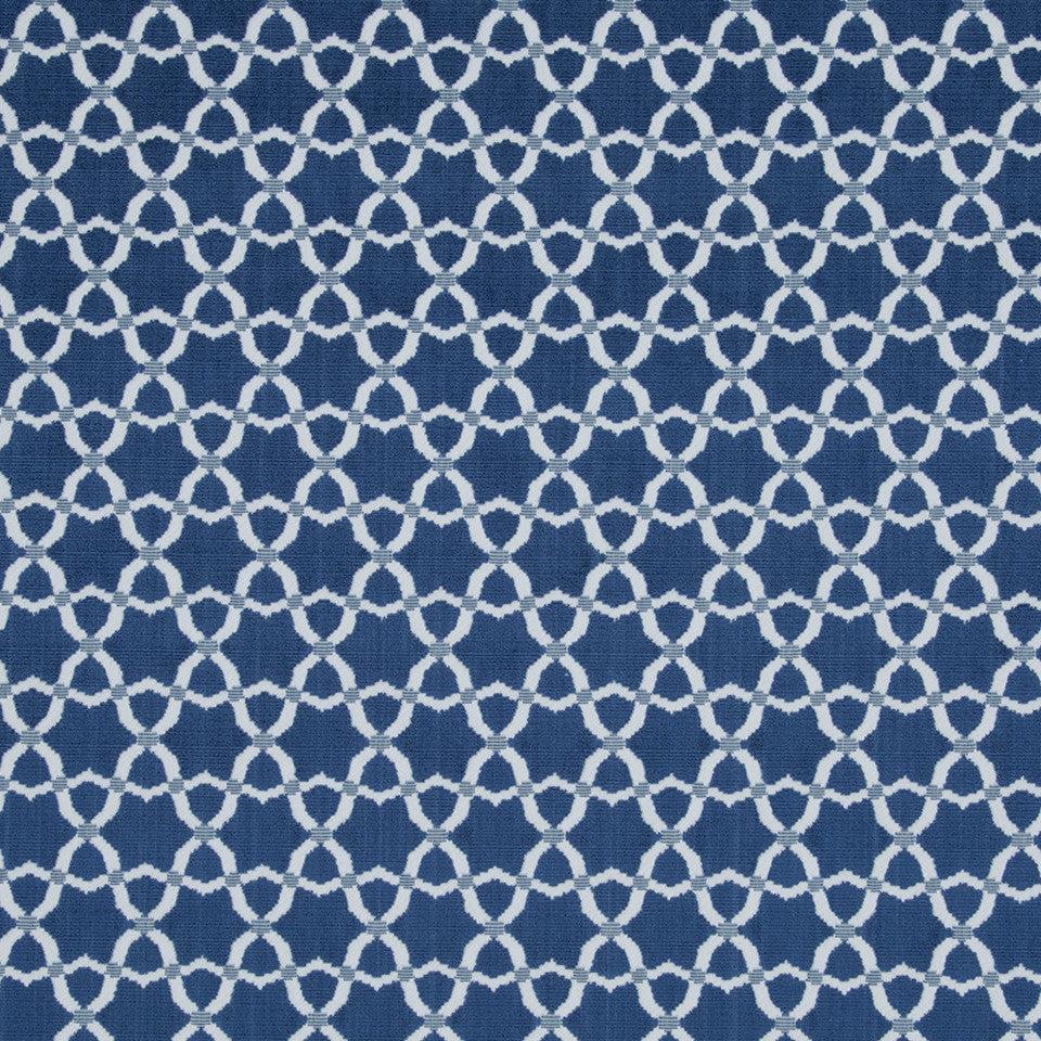 VELVET GEOMETRICS Cordoba Star Fabric - Atlantic