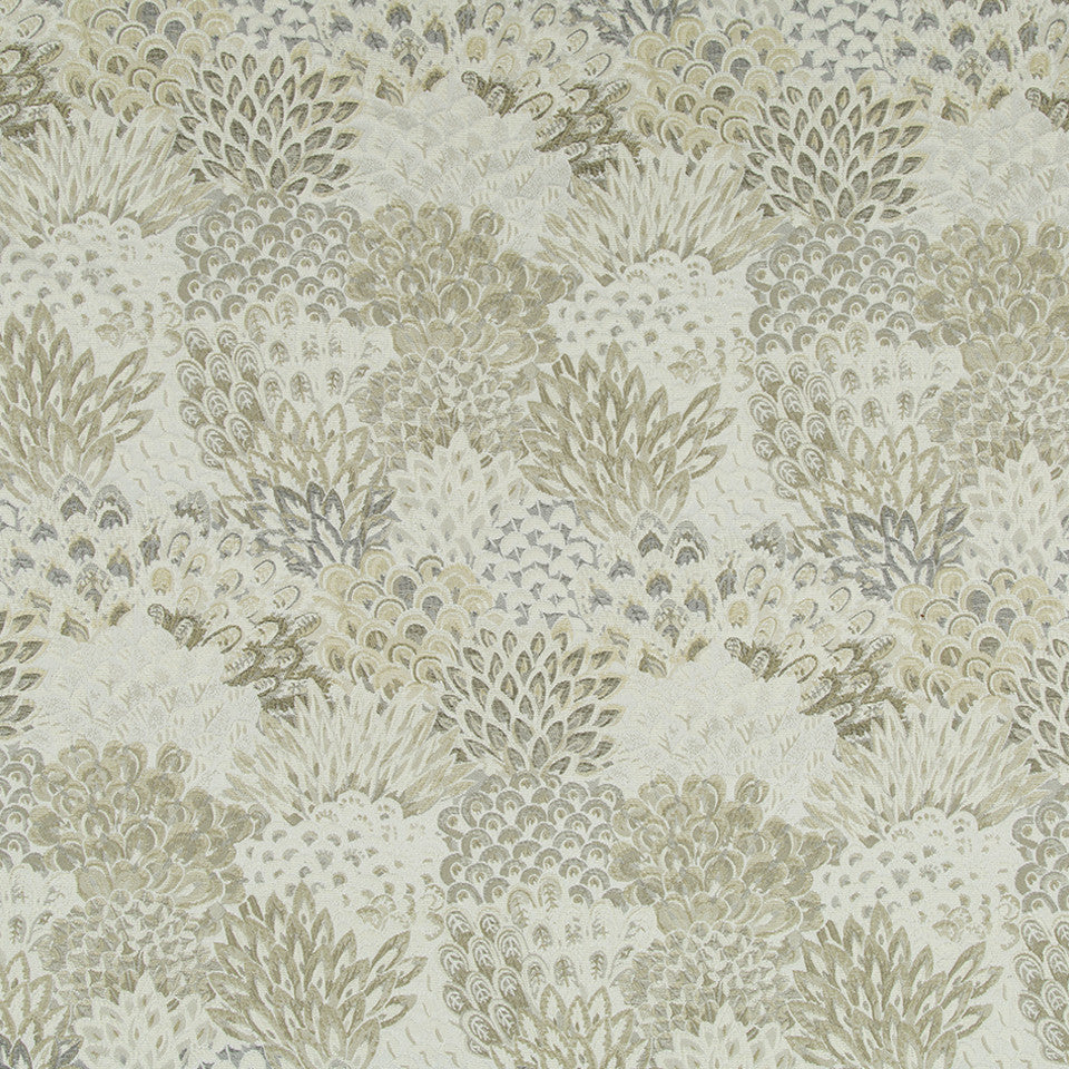 SANDSTONE Feather Fans Fabric - Sandstone