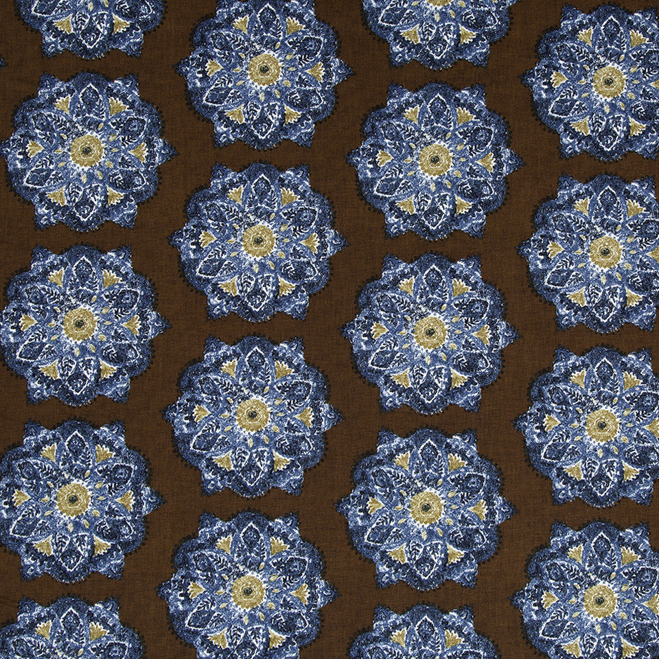 Suri Medallion Fabric - Cognac