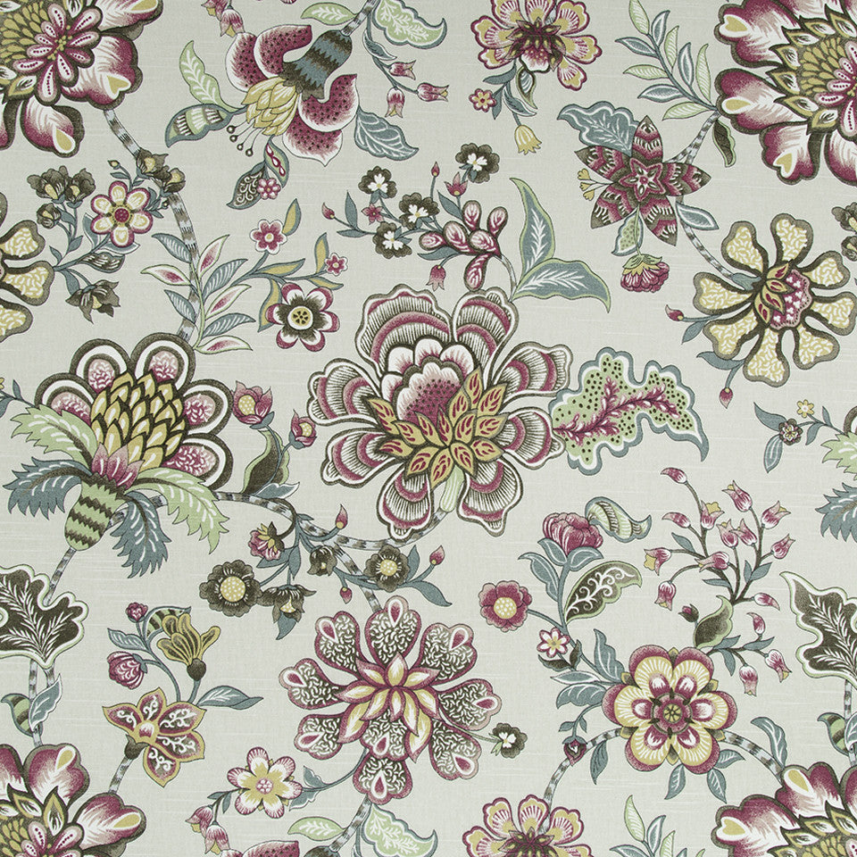 Kyran Vines Fabric - Linen