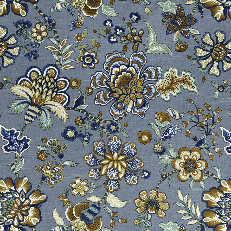 Kyran Vines Fabric - Twilight