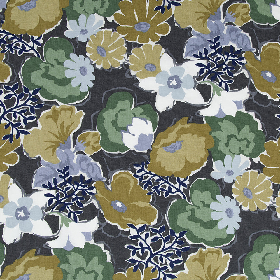 Splashy Garden Fabric - Greystone