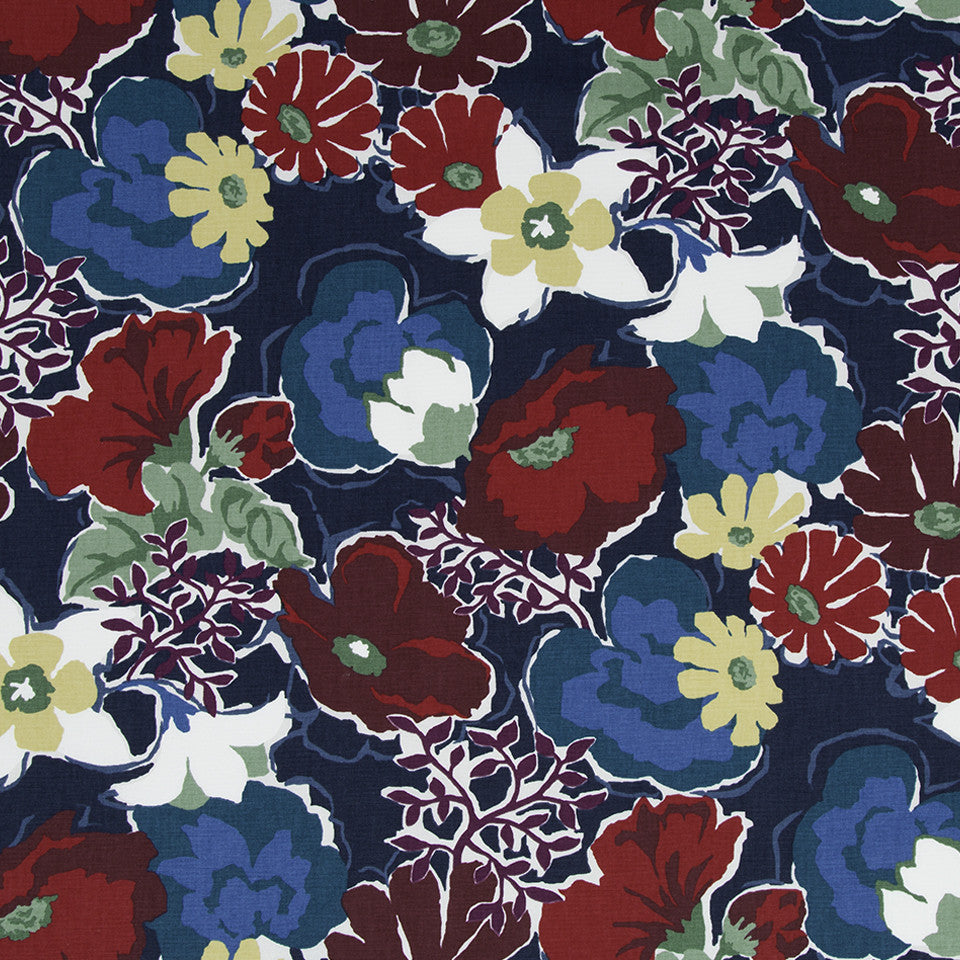 Splashy Garden Fabric - Poppy