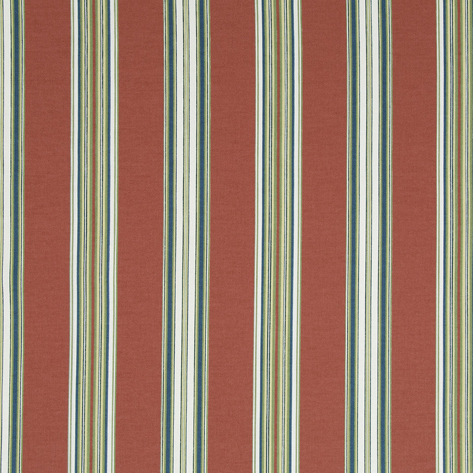 Ren Stripe RR Fabric - Coral