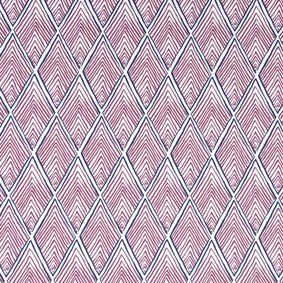 Rhombi Forms Fabric - Fuchsia