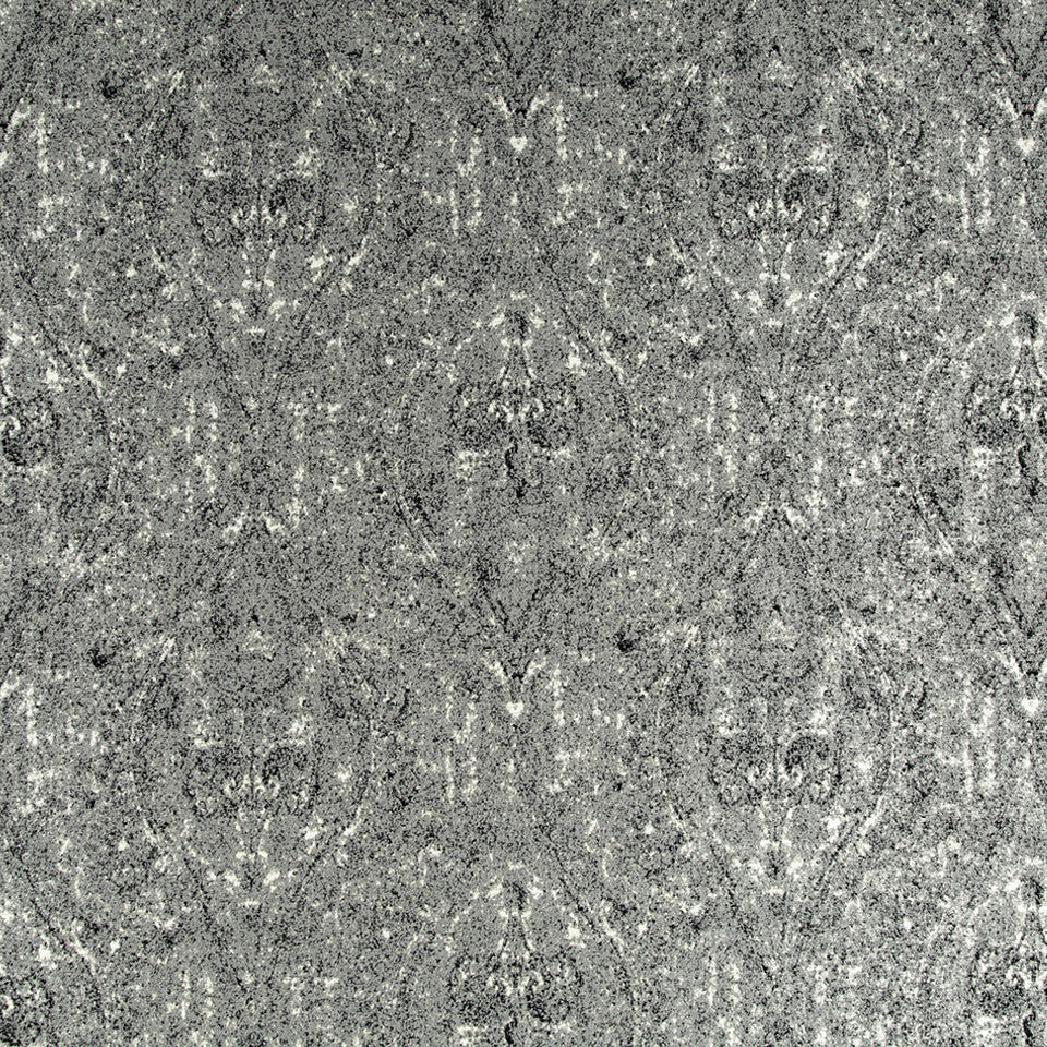 Ogee Paisley Fabric - Pewter